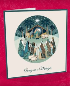 away in a manger christmas card