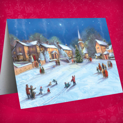 Snowy Square Christmas Cards