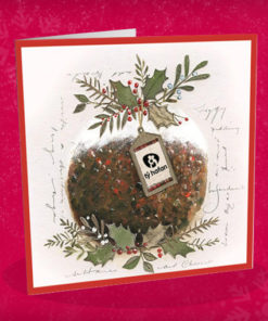 christmas pudding christmas card