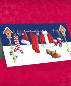 Santa's Washing Line Christmas Card
