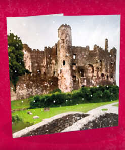christmas card laugharne castle